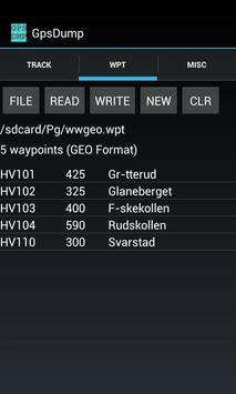 GpsDump apk screenshot