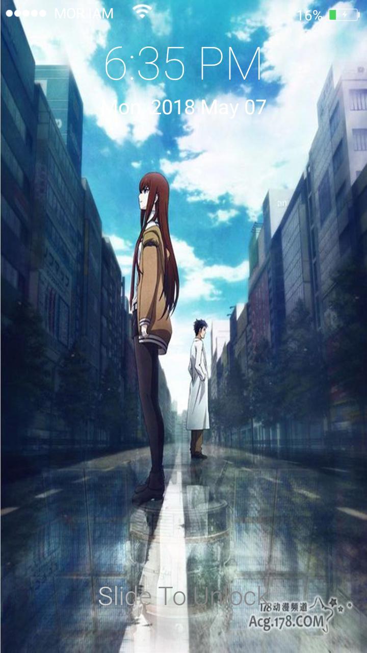 Android 用の Steins Gate 0 Season 2 Okabe And Kurisu Lockscreen