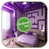 Purple Bedroom Decoration icon