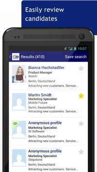 StepStone DirectSearch App apk screenshot