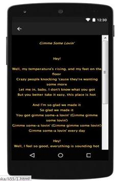 Best Lyrics Steve Winwood apk screenshot