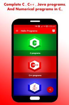 Hello Programs (C, C++ & Java) screenshot 1
