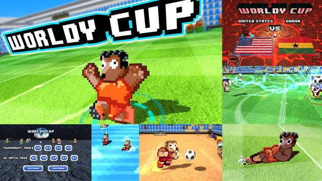 Worldy Cup -Super power soccer poster