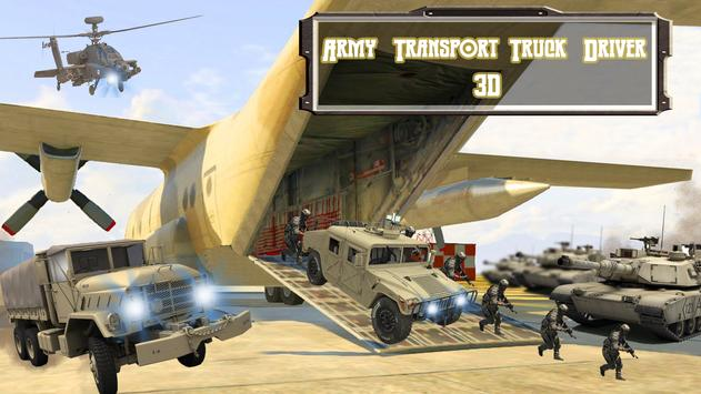 Army Transport Truck Driver 3D poster
