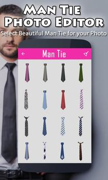 Man Tie Photo Editor poster