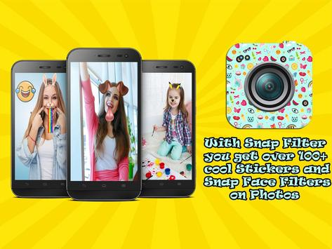 Snap Face filters and stickers poster