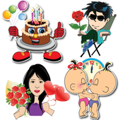 Happy Birthday Stickers - Anniversary Stickers icon