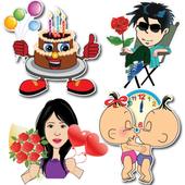 Happy Birthday Stickers - Anniversary Stickers icon