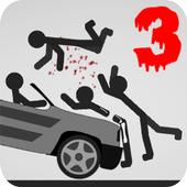 Stickman Destruction 3 Heroes🏁 icon