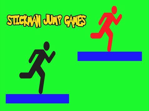 Stick-man Jump Games. poster