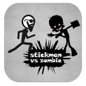 stickman escape - zombie game icon