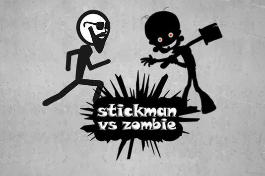 stickman escape - zombie game poster