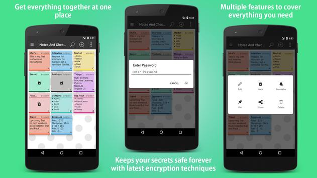 Sticky Notes - Note, Checklist and Diary + Widgets screenshot 2
