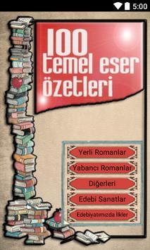 Roman Özetleri 100 Temel Eser poster