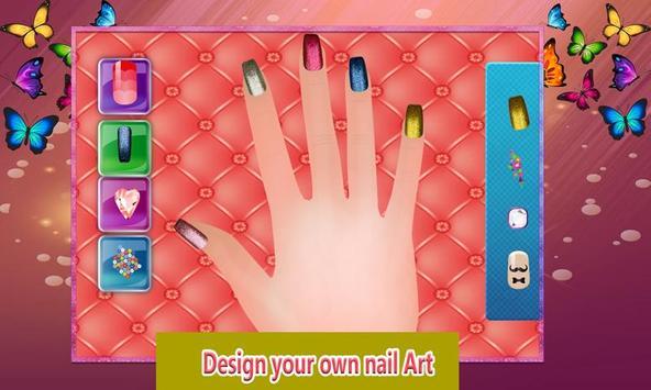 Shiny Nail Art Design Salon: Girl Manicure Parlour poster