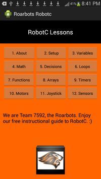 RobotC Instructional Guide poster