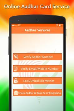 Online Aadhar Card Services : Update Aadhar Card poster
