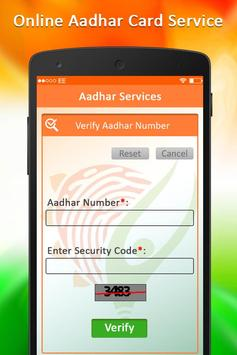 Online Aadhar Card Services : Update Aadhar Card screenshot 1