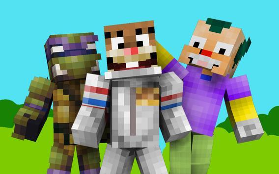 Cartoon Skins For Minecraft PE APK Download Free Entertainment APP - Skin para minecraft pe celular