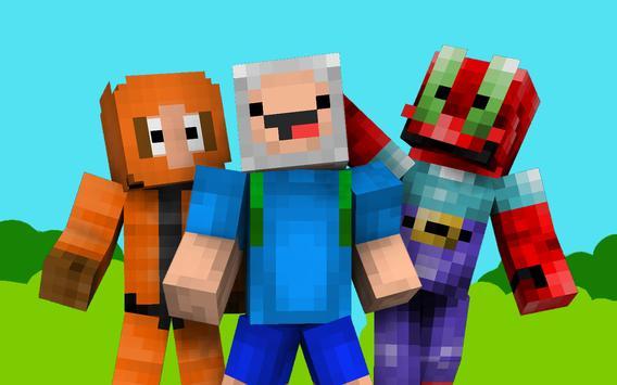 Cartoon Skins For Minecraft PE APK Download Free Entertainment APP - Skins para minecraft pe baixar