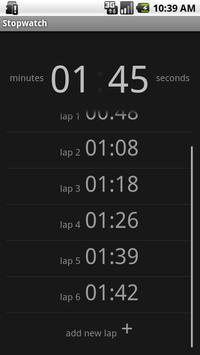 Simple Stopwatch Free apk screenshot