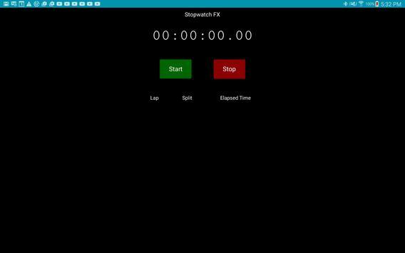 Stopwatch FX apk screenshot