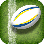 Rugby Team Player Pass & Score icon