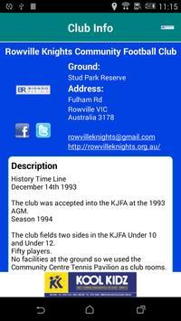 Rowville Knights Community FC screenshot 4