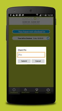 CLOCK IN CLOCK OUT apk screenshot