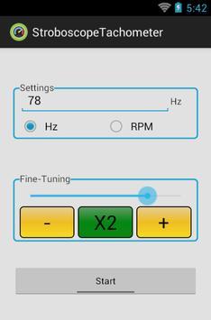Strobe-Tachometer apk screenshot