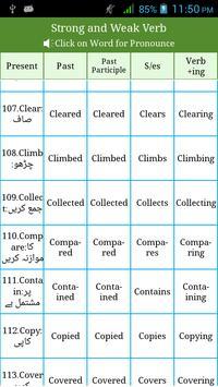 Irregular & Regular Verbs Urdu screenshot 2