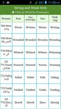 Irregular & Regular Verbs Urdu screenshot 3