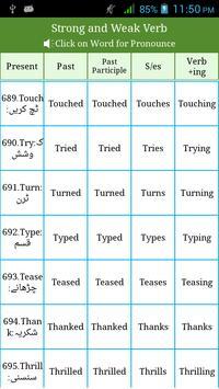 Irregular & Regular Verbs Urdu screenshot 4