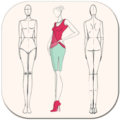 Fashion Design Flat Sketch - Fashion Designing App icon