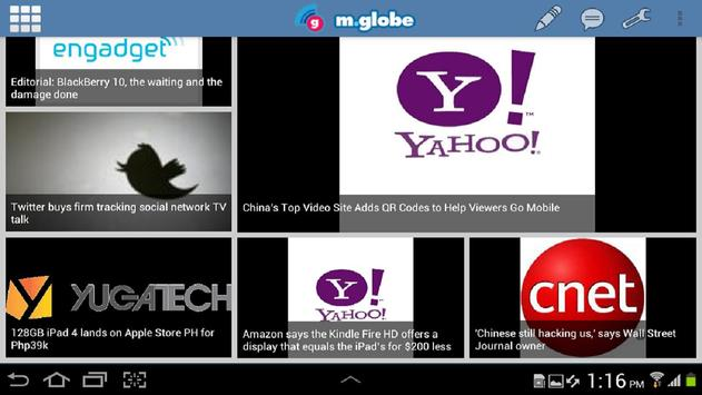 m.globe for Tablet screenshot 1