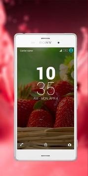 Strawberry-Xperia-theme apk screenshot