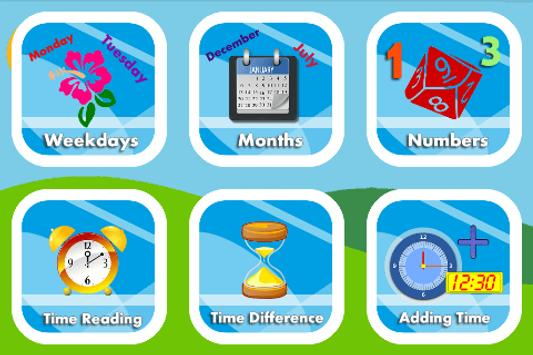 Learn Clock,Day & Month - Kids poster