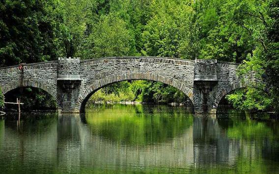 Stone Garden Bridge Design apk screenshot