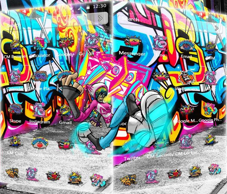 Street Graffiti Theme For Android