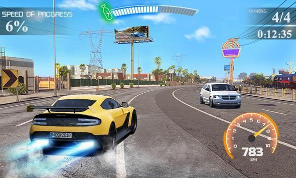 Street Racing Car Driver 3D Poster