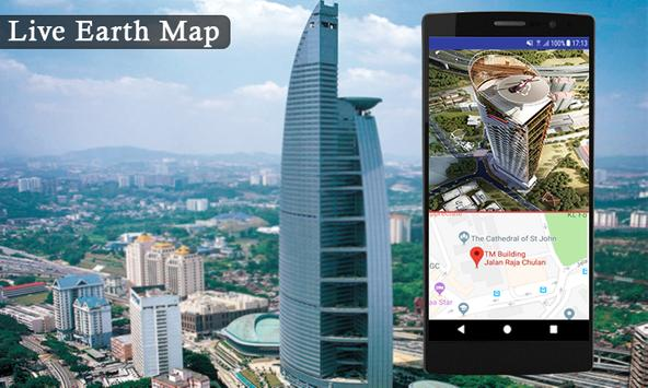 Live earth map streetview world GPS & compass 2018-poster