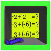 The sum of integers icon