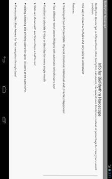 BioRhythm Horoscope apk screenshot