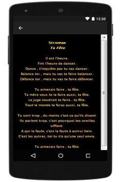 Stromae Lyrics 2016 apk screenshot