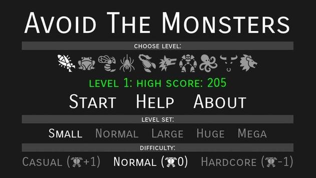 Avoid The Monsters apk screenshot