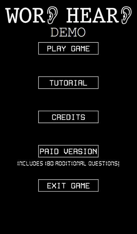 Word heard demo descarga apk gratis puzles juego para android word heard demo poster malvernweather Choice Image
