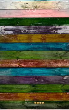 Colored wood 4K lock screen wallpaper apk screenshot