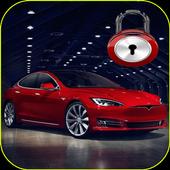 Electric car 4K lock screen icon
