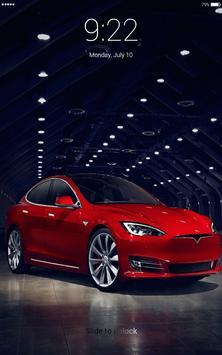 Electric car 4K lock screen poster