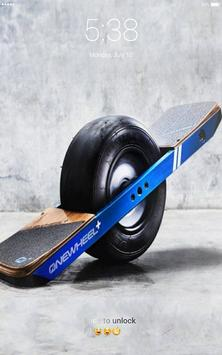 Hoverboard electric segway 3D lock screen apk screenshot